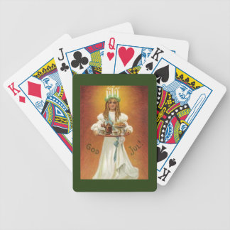 God Jul! Lucia with treats Bicycle Playing Cards