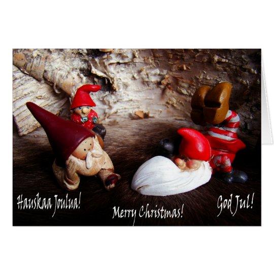 God Jul ~ Merry Christmas ~ Hauskaa Joulua Card