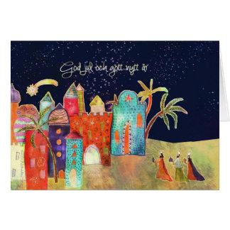 God jul , Merry Christmas in Swedish Greeting Card