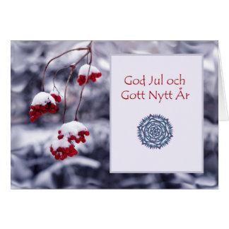 God Jul och Gott Nytt Ar, Swedish Christmas Card