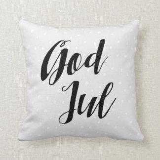 God Jul | Scandinavian Christmas Throw Pillow