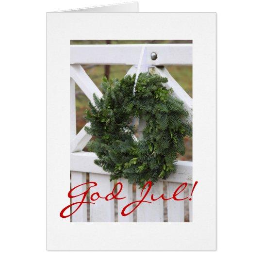 God Jul! Swedish Christmas Wreath Card