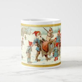 God Jul - Swedish Post Card 2 Large Coffee Mug