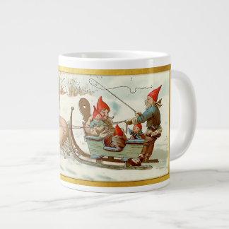 God Jul - Swedish Post Card 4 Large Coffee Mug