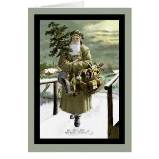 God Jul Swedish Santa Card