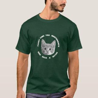 God Kills a Kitten (white text) T-Shirt