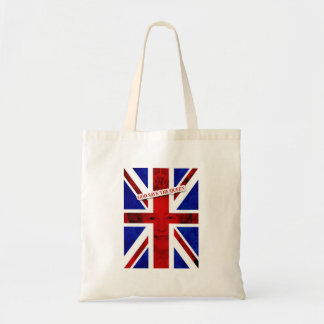 GOD KNOWS THE QUEEN UK Edition Tote Bags