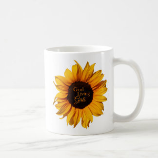 God-Living Girls Orange Sunflower Mug