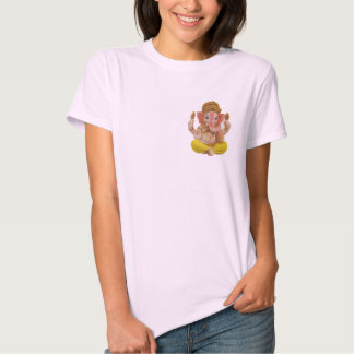 God Lord Ganesh on your heart for good luck tshirt