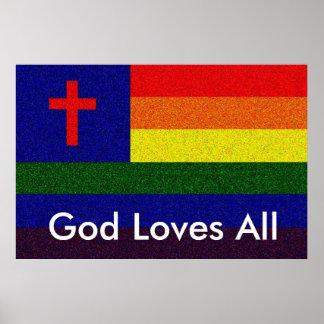 God Loves All Poster