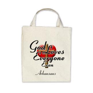 God Loves Arkansans Tote Bags