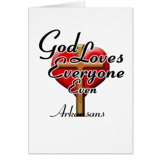 God Loves Arkansans Greeting Cards