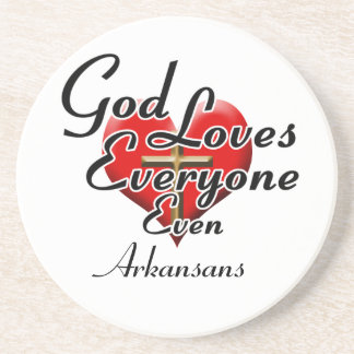 God Loves Arkansans Drink Coasters