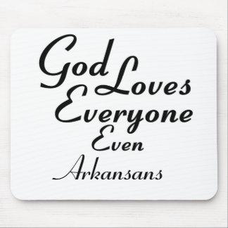God Loves Arkansans Mouse Pads