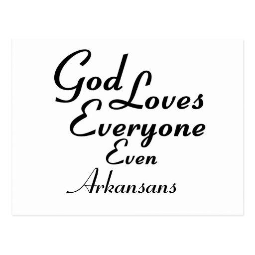 God Loves Arkansans Post Card