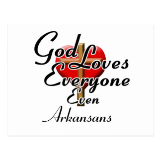 God Loves Arkansans Postcard