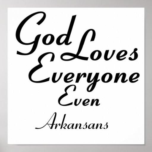 God Loves Arkansans Print