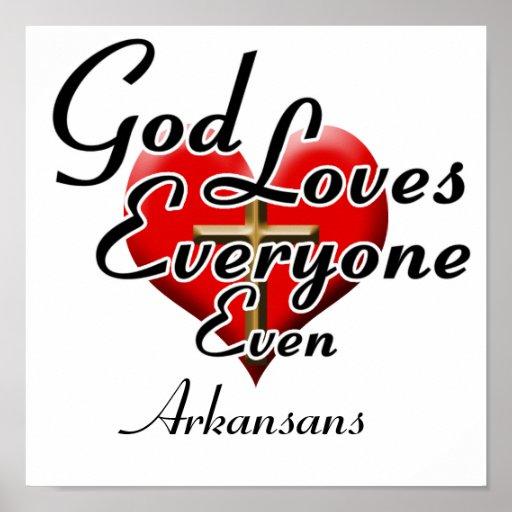 God Loves Arkansans Posters