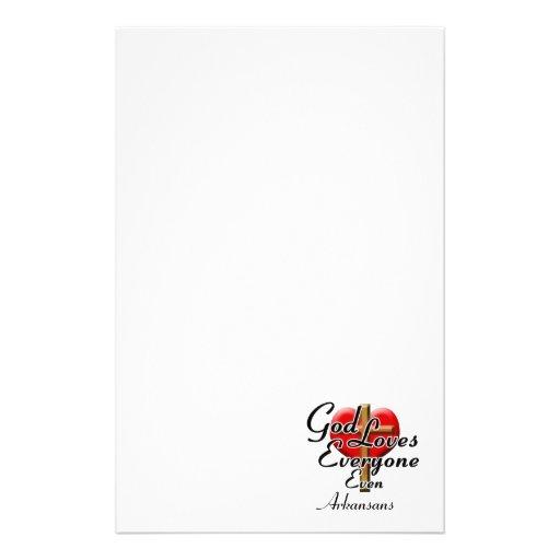 God Loves Arkansans Stationery Paper