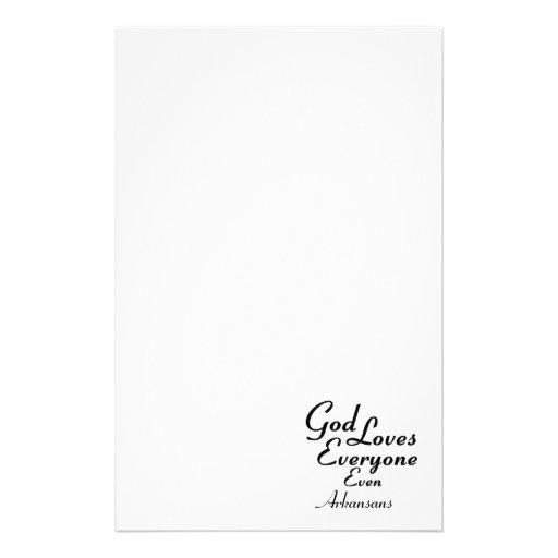God Loves Arkansans Stationery Design