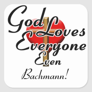 God Loves Bachmann! Sticker