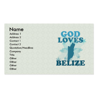 God Loves Belize Business Card Template