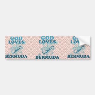 God Loves Bermuda Bumper Sticker