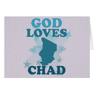God Loves Chad Greeting Cards