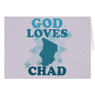 God Loves Chad Greeting Card