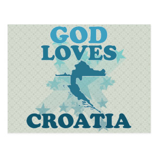 God Loves Croatia Post Cards
