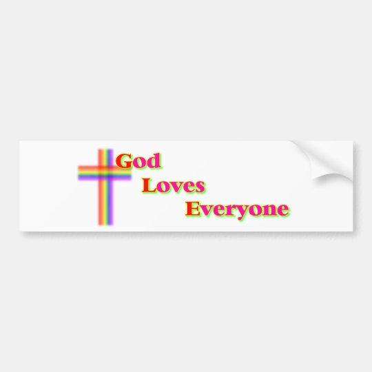 God Loves Everyone Bumper Sticker