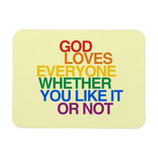 GOD LOVES EVERYONE - - .png Rectangular Magnets
