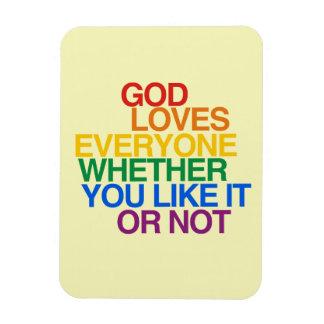 GOD LOVES EVERYONE VINYL MAGNET