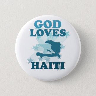 God Loves Haiti 6 Cm Round Badge