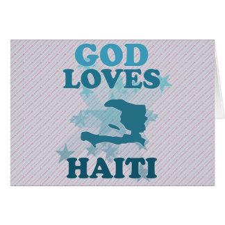 God Loves Haiti Greeting Card
