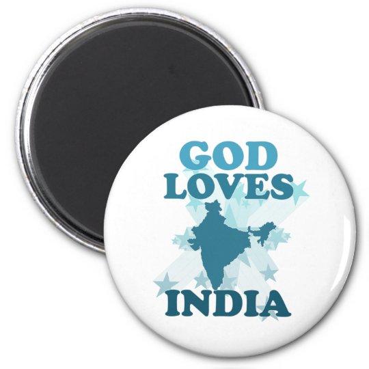 God Loves India Magnet