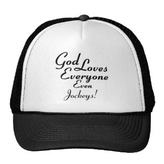 God Loves Jockeys! Trucker Hats