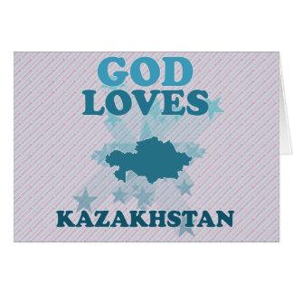 God Loves Kazakhstan Card