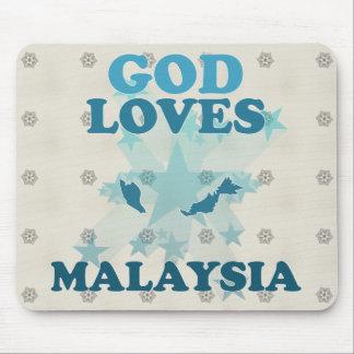 God Loves Malaysia Mousepad