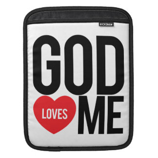 God Loves Me iPad Sleeve