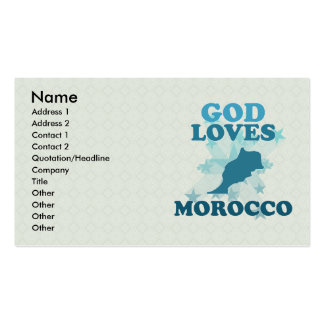 God Loves Morocco Double-Sided Standard Business Cards (Pack Of 100)