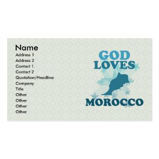 God Loves Morocco Pack Of Standard Business Cards