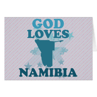 God Loves Namibia Greeting Card