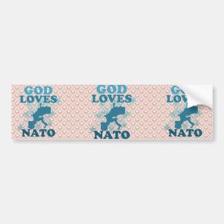 God Loves Nato Car Bumper Sticker