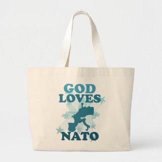 God Loves Nato Tote Bags
