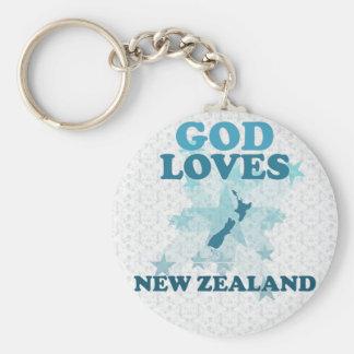 God Loves New Zealand Key Ring