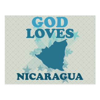 God Loves Nicaragua Postcard
