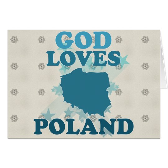 God Loves Poland Card
