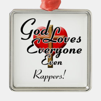 God Loves Rappers! Christmas Ornament