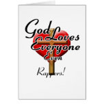 God Loves Rappers! Greeting Cards